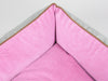 Selbourne Orthopaedic Box Bed - Fossil / Fuchsia, Medium - 75 x 60 x 30cm