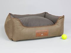 Monxton Orthopaedic Box Bed -  Cocoa / Chestnut, Medium - 75 x 60 x 30cm