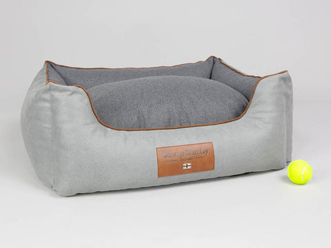 Selbourne Orthopaedic Box Bed - Fossil / Charcoal, Medium - 75 x 60 x 30cm