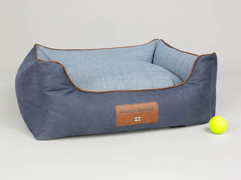 Monxton Orthopaedic Box Bed - Twilight / Denim, Medium - 75 x 60 x 30cm