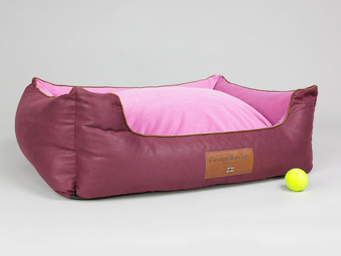 Selbourne Orthopaedic Box Bed - Grape / Fuchsia, Large - 90 x 70 x 33cm