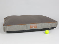 Beckley Mattress Bed - Taupe / Chestnut, Large - 100 x 70 x 10cm