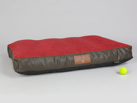 Beckley Mattress Bed - Deluxe Edition - Mahogany / Cherry, X-Large - 120 x 80 x 12cm
