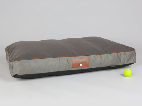 Beckley Mattress Bed - Taupe / Chestnut, X-Large - 120 x 80 x 12cm