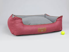 Hursley Orthopaedic Box Bed - Cabernet / Ash, X-Large - 105 x 80 x 36cm