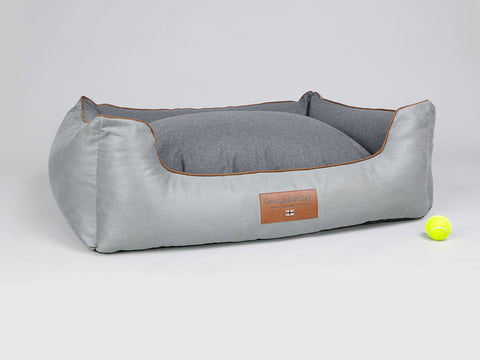 Selbourne Orthopaedic Box Bed - Fossil / Charcoal, X-Large - 105 x 80 x 36cm