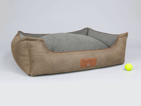 Monxton Orthopaedic Box Bed - Cocoa / Deep Bronze, X-Large - 105 x 80 x 36cm