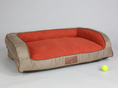 Selbourne Dog Sofa Bed - Ginger / Ember, Large