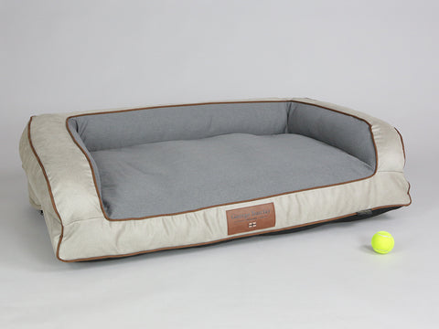 Selbourne Dog Sofa Bed - Taupe / Ash, Large