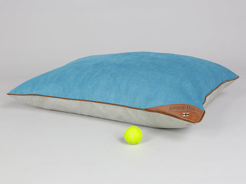 Ashurst Orthopaedic Pillow Bed - Aqua, Large - 100 x 70cm