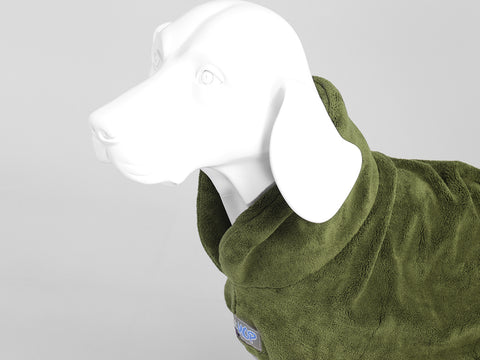 MuttMOP® Dog Drying Robe (Olive)