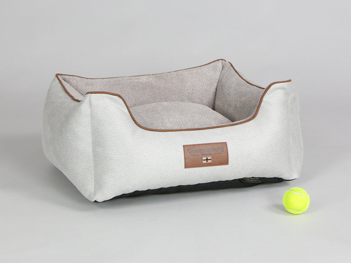 Exbury Orthopaedic Walled Dog Bed - Silver / Taupe, Small