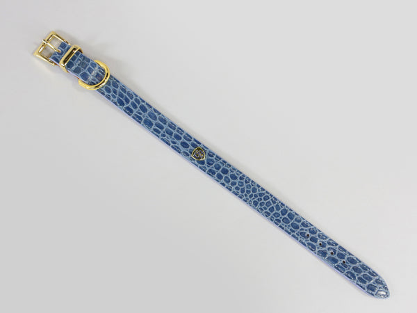 Holmsley Leather Collar – Regal Blue, Small, 28 - 32cm (11 – 12.5in.)
