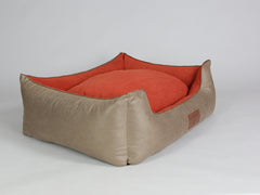 Selbourne Orthopaedic Walled Dog Bed - Ginger / Ember, X-Large