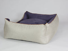 Selbourne Orthopaedic Walled Dog Bed - Taupe / Grape, X-Large