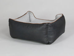 Exbury Orthopaedic Walled Dog Bed - Black Coffee / Frost, Small