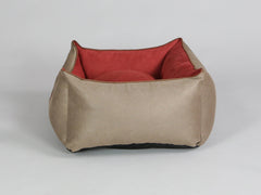 Selbourne Orthopaedic Walled Dog Bed - Ginger / Chestnut, Small