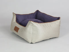 Selbourne Orthopaedic Walled Dog Bed - Taupe / Grape, Small
