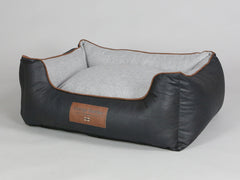 Exbury Orthopaedic Walled Dog Bed - Black Coffee / Frost, Medium