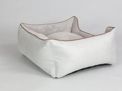 Exbury Orthopaedic Walled Dog Bed - Silver / Taupe, Medium