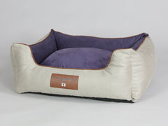 Selbourne Orthopaedic Walled Dog Bed - Taupe / Grape, Medium