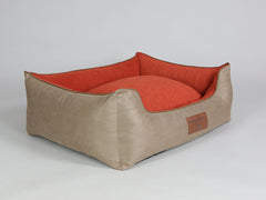 Selbourne Orthopaedic Walled Dog Bed - Ginger / Ember, Large