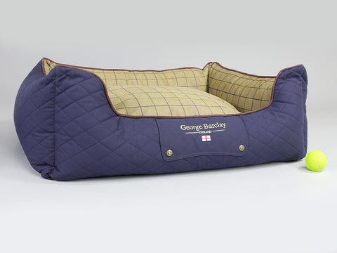Country Orthopaedic Box Bed - Midnight Blue, Large - 90 x 70 x 33cm