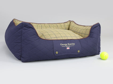 Country Orthopaedic Walled Dog Bed - Midnight Blue, Medium