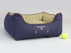 Country Orthopaedic Box Bed - Midnight Blue, Small - 60 x 50 x 27cm