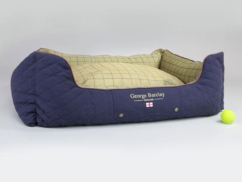 Country Orthopaedic Box Bed - Midnight Blue, X-Large - 105 x 80 x 36cm