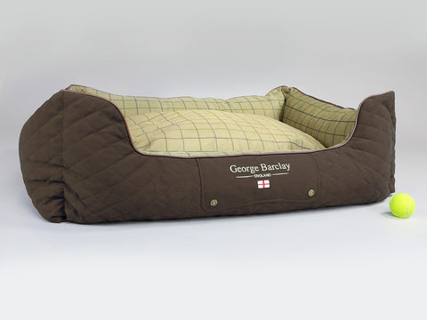 Country Orthopaedic Box Bed - Chestnut Brown, X-Large - 105 x 80 x 36cm