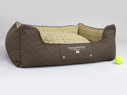 Country Orthopaedic Box Bed - Chestnut Brown, Large - 90 x 70 x 33cm