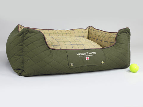 Country Orthopaedic Box Bed - Olive Green, Large - 90 x 70 x 33cm