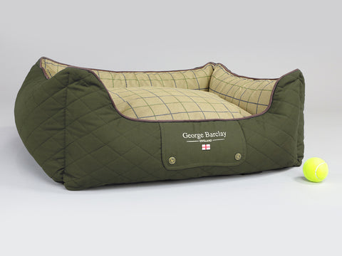 Country Orthopaedic Walled Dog Bed - Olive Green, Medium