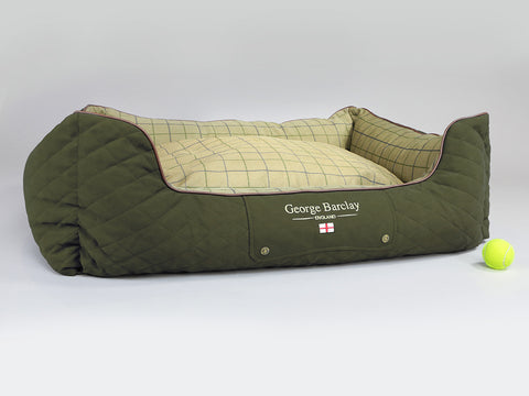 Country Orthopaedic Box Bed - Olive Green, X-Large - 105 x 80 x 36cm