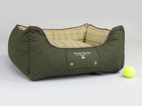 Country Orthopaedic Walled Dog Bed - Olive Green, Small