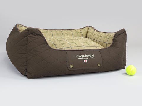 Country Orthopaedic Walled Dog Bed - Chestnut Brown, Medium