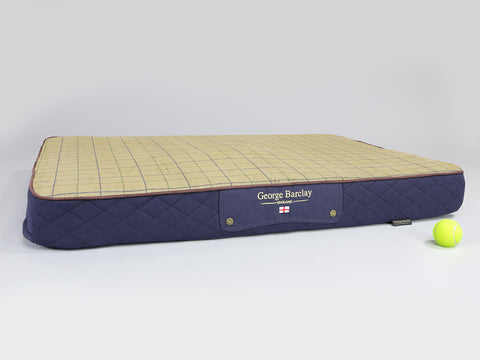 Country Mattress Bed - Midnight Blue, X-Large - 120 x 80 x 12cm