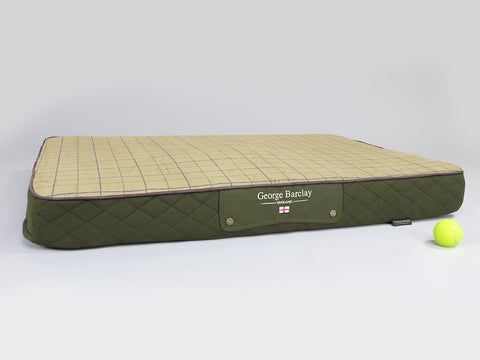 Country Mattress Bed - Olive Green, X-Large - 120 x 80 x 12cm