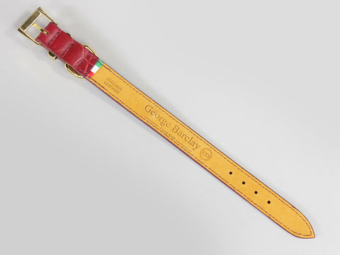 Holmsley Leather Collar – Oxblood Red, XX-Small, 20 – 24cm (8 – 9.5in.)