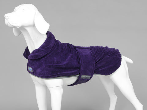 MuttMOP® Dog Drying Robe (Plum)