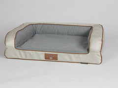 Selbourne Dog Sofa Bed - Taupe / Ash, Medium