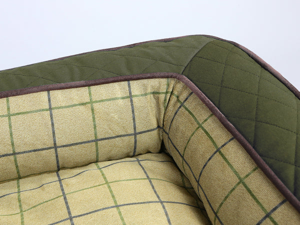 Country Sofa Bed - Olive Green, Medium - 90 x 65 x 22cm