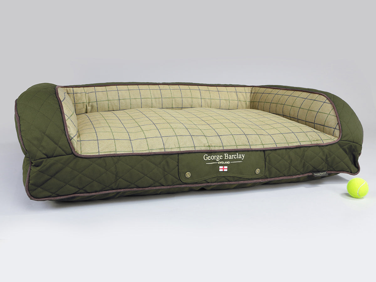 Country Dog Sofa Bed - Olive Green, Large