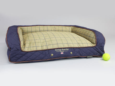 Country Sofa Bed - Midnight Blue, Medium - 90 x 65 x 22cm