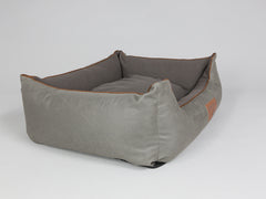 Beckley Orthopaedic Box Bed - Taupe / Chestnut, Large - 90 x 70 x 33cm