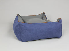 Beckley Orthopaedic Box Bed - Navy / Ash, Large - 90 x 70 x 33cm
