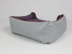 Beckley Orthopaedic Box Bed - Silver / Vino, Medium - 75 x 60 x 30cm