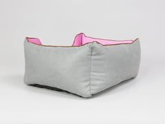 Selbourne Orthopaedic Box Bed - Fossil / Fuchsia, Small - 60 x 50 x 27cm