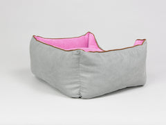 Selbourne Box Bed - Fossil / Fuchsia, Small - 60 x 50 x 27cm